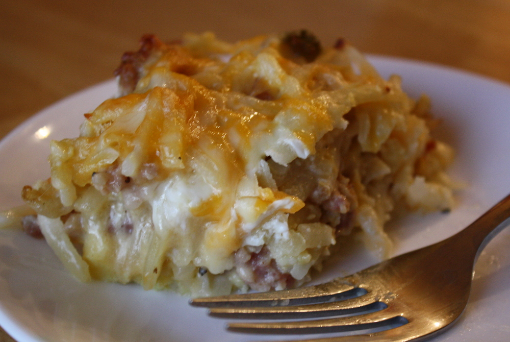 cheesy hashbrown sausage breakfast casserole a